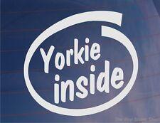 YORKIE INSIDE Novelty Car/Van/Window Sticker for Yorkshire Terrier Dog Owners