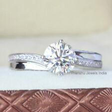 Brilliant Forever Moissanite Engagement Ring 14k White Gold Over 1.50Ct White