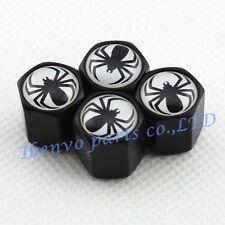 Black Styling Car Metal Wheel Tyre Tire Stem Air Valve Cap For Spider Vehicles