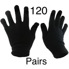 120 Pairs Black Magic Gloves Unisex Men Ladies Winter one size Wholesale Job lot