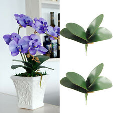 4Pcs Simulation Butterfly Orchid Leaves Artificial Green Leaf Plant Home Decor