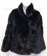 Noriko New BLACK Faux Fur Jacket Coat  Bolero large Coat  $159