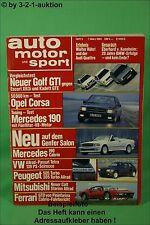 AMS Auto Motor Sport 5/84 * Ferrari Mondial Cabrio Kadett GTE DB 190 E 5.0