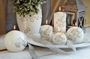 Fleur Hand Made Pillar Candle Home Decor Wedding Gift Long Time Burning