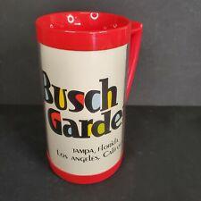 Vintage Busch Gardens Thermo Serv Plastic Mug Coffee Stein Cup