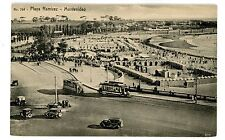 Montevideo Uruguay -Trolley Cars At Playa Ramirez- Postcard