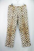 Roberto Cavalli Mid-Rise Leopard Print Jeans Size 12 UK/ 40 EU/ 8 US