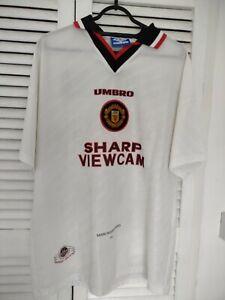 Manchester United Shirt ORIGINAL 1996/97 Away - Large (Cantona 7)