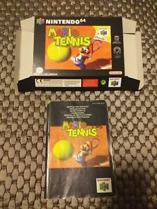 EMPTY BOX (reproduction, good quality) - Mario Tennis - and manual - N64