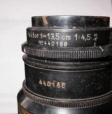 LEICA LEITZ DOUBLE SER/NR HEKTOR 13.5CM F/4.5 L39 MOUNT LENS - VERY GOOD - RARE