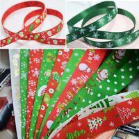 Christmas Ribbon Satin Grosgrain Santa Elf Snowman 10mm 25mm Wedding FavourDecor