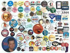 Vintage Retro Pins Pinback Buttons Pop Culture 80s 90s Lot Of 102