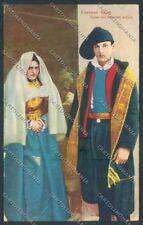 Sassari Costumi Sardi cartolina ZG0492