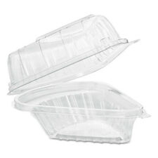 Dart Showtime Clear Hinged Containers Pie Wedge 6 2/3 oz Plastic 125/PK 2 PK/CT