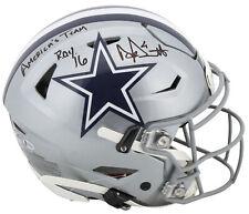 Cowboys Dak Prescott 2x Insc. Signed Authentic Speed Flex Full Size Helmet BAS