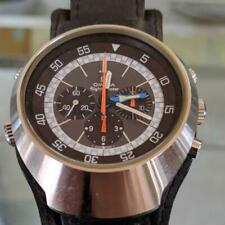 AUTH OMEGA WATCH FLIGHTMASTER 1970S VINTAGE LEATHER STRAP HAND-WINDING MENS F/S