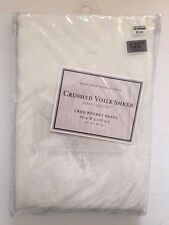"""Crushed Voile Sheer in Ivory 120"""""""