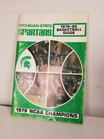 1978-79 MICHIGAN STATE SPARTANS BASKETBALL MEDIA GUIDE -- NATIONAL CHAMPS - NM