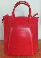 SAC CABAS LUXE LANCEL XL CUIR VACHETTE & TOILE HUILEE ROUGE *new offer 149 €