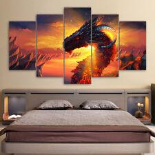 Modern Abstract Oil Painting Wall Decor Art Huge - Dragon 5pcs