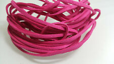 5 YARDS - 15 FEET Hot Pink Faux Suede Cord Leather Lace Ribbon Soft #13