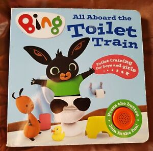 Bing All Aboard The Toilet Train Potty Training Boy Girl Help Music Sound book
