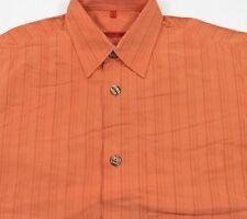 TC5613 SIGNUM Freizeit-Hemd Orange Braun Streifen langarm Gr.S wie Neu