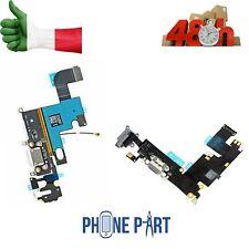 DOCK CONNETTORE PER IPHONE 6 E 6 PLUS CARICA RICARICA MICROFONO FLEX NERO BIANCO