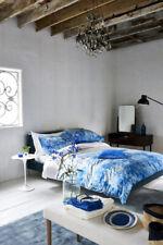 Designers Guild Satari Colbat Blue Superking Duvet  Cover + 2 P/Cases Ex-display