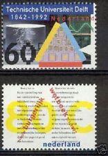 Nederland NVPH 1515-16 Techn. Universiteit Delft Burgerlijk Wetb. 1992 Postfris