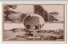 Pembrokeshire; Views Of Tenby Multiview RP PPC By WH Smith, Unposted, c 1910's