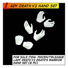 Phicen/TBLeague Hot Lady Death V2 Hand Set (6pc) for 1/6 12 in scale Female Toys
