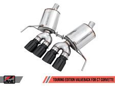 AWE Touring Edition Valveback Exhaust Diamond Black Tips for Chevrolet Corvette