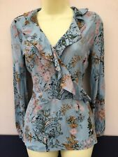 Next Blue Blouse Top Floral Size 8 BNWT New Lovely Gift