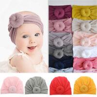 Baby Girls Kids Turban Knot Headband Bow Hair Bands Newborn Head Wrap Hat HOT