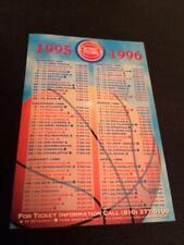 1995-96 Detroit Pistons Basketball Pocket Schedule Meijer Version