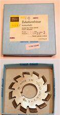 Zahnformfräser Modul 2,75 - EW 20° - für 17-20 Zähne - Ø80x10xØ27 / 12 Spannuten