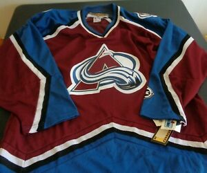 COLORADO AVALANCHE Hockey KOHO Sewn NHL Blank LARGE Jersey NEW Free Shipping