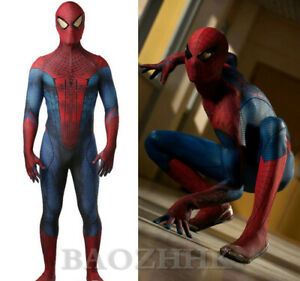 The Amazing Spider-Man Jumpsuit Spiderman Cosplay Costume For Adult & Kids Cos