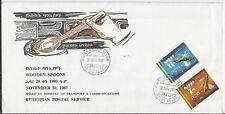 Etiopia 1987, Cucharas de maderaMi № 1279-1280, FDC