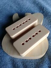 P-90 Pickup Soapbar Cover Set (2) in Cream for Vintage Guitar Project NEW