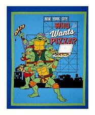 Ninja Turtles Who Wants Pizza 63247 100% cotton Fabric by the panel 43 x 35