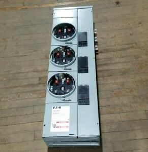 Eaton 1MM312RRLP Meter Stack 125A Residential 120/240V 1PH 3 Wire 3 Socket NOS