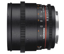 Samyang 85mm T1.5 Cine VDSLR II Version 2 Aspherical Telephoto Lens for Nikon