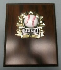 baseball stars ball plaque high relief 8 x 10 cherry finish award Personalized