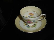 Rosina Floral English Bone China Cup and Saucer ~ Very beautiful and dainty.