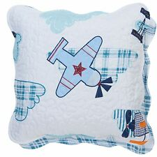 """BOYS GIRLS AIRPLANE AEROPLANE MADE IN NETHERLANDS COTTON CUSHION COVER 17"""""""