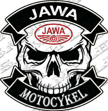 #40-SKULL JAWA MOTOCYKEL 9,5x9 cm! AUFKLEBER AUTOCOLLANT STICKER TUNING MOTORRAD