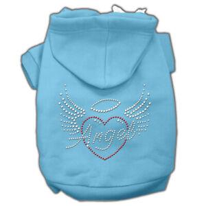 Puppy Pet Dog Coat  Sweater Warm Hoodies Angel Heart Apparel Sweatshirt Clothes