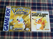 Pokemon Yellow Version - Special Pikachu - Authentic - Game Boy - GB - Box Only!